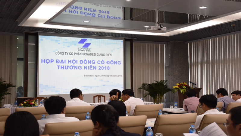 Sonadezi Giang Dien's 2018 Annual General Meeting of Shareholders