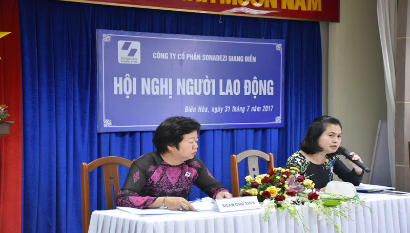 Labor Conference 2017 of Sonadezi Giang Dien